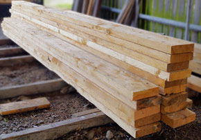 More timber for landscaping