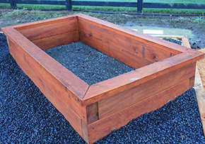 200x100 Garden Bed made with macrocarpa timber
