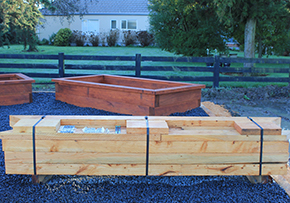 Kitset Garden Bed made with macrocarpa timber
